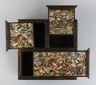 Collect Antique Boxwood Inlay Shells Hand-Carved Delicate Precious Storage Box