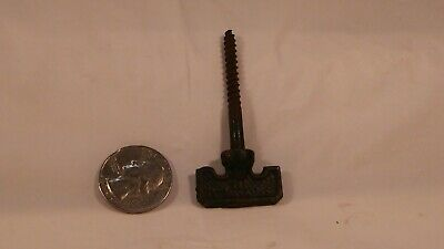Antique small ornate cast iron threaded  hanger plant oil lamp hook 2 1/2""