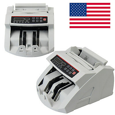 Money Bill Currency Counter Counting Machine Counterfeit Detector UV 900pc/Min