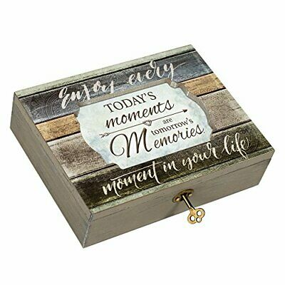 Cottage Garden Daughter Never Outgrow Heart Denim Decoupage Petite Music Box Plays You are My Sunshine