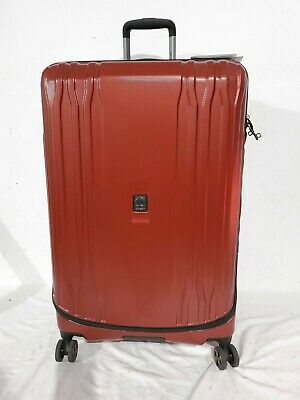"""$420 Delsey Eclipse 29"""" Hard Spinner Suitcase Luggage Expandable Lightweight"""