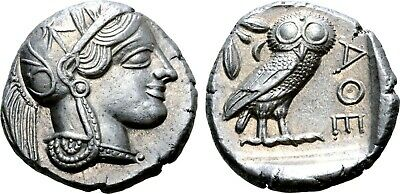Athena Attica Tetradrachm (Ancient Owl Coin)