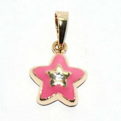 Safety Girls Childrens Kids Toddler Baby Star Pendant Pink For Chain Necklace