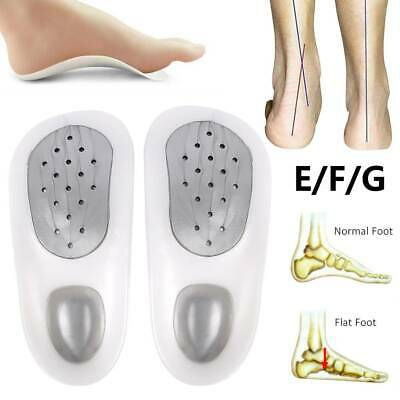 2X Heel Support Pads Orthotic Cushion Gel Cup Insoles For Plantar Fasciitis Pain