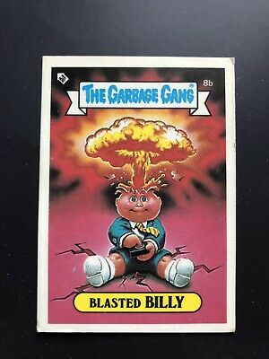 The Garbage Gang Blasted Billy 8b 1985 Card Sticker Vintage