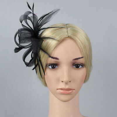 Party Flower Fascinator Fashion Feather Ribbon Hair Band Gift Mesh Knot Banquet