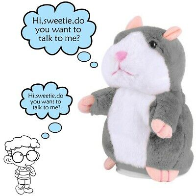 Talking Hamster Plush Toy Repeat What You Say Interactive Kids Early Learning
