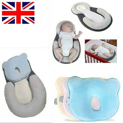 Cotton Newborn Baby Infant Pillow Positioner Prevent Flat Head Anti Roll Home UK