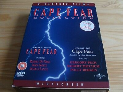 CAPE FEAR - 1962 + 1991 - 2 x DVD On One Box - pre-owned