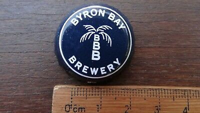 """1 x BYRON BAY BREWERY """"THE CRAMPS WERE HERE '90"""" BOTTLE CAP"""