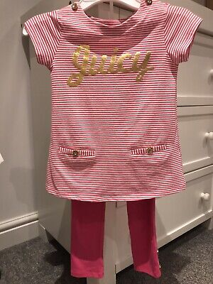 juicy couture girls leggngs & top, pink, age 5yrs