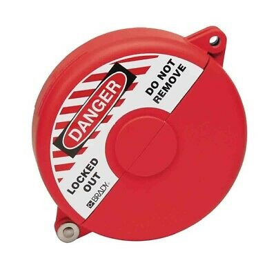 Brady Gate Valve lockouts 10-13 Red