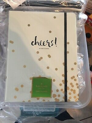 Kate Spade New York Gold Confetti Dot Party Planning Book Retail, NEW