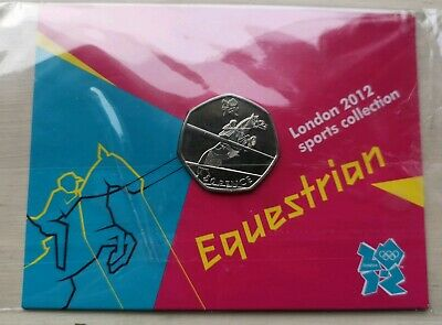 Equestrian olympic 50p coin uncirculated