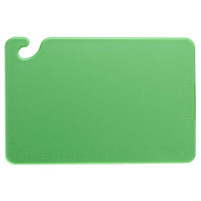 Set Of 2; Cutting Bd, 12 X 18 X 1/2 W/Hook Green