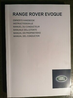Range Rover Evoque Owners Manual / Handbook  2011 - 2015 / 305 Pages