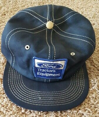 VINTAGE Ford Tractors Equipment HAT Jacket FARMING TRUCK PATCH