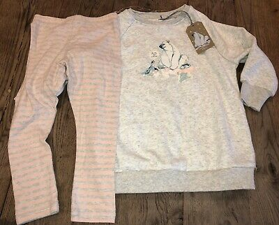 BNWT Polar Bear & Seal Sweat Top & Leggings 3 years Girls Lounge Set
