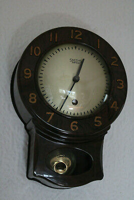 Vintage Smiths Bakelite 8 Day 1950's Kitchen Wall Clock