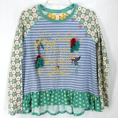 Matilda Jane Knit Top Girls 12 Magic & Wonder Sparkle Glitter Once Upon a Time