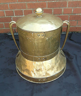 Arts & Crafts Brass Coal Scuttle