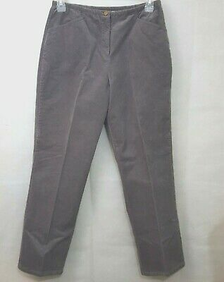 Blair Women's  Corduroy Pants Gray Stretch Pockets Straight Leg Size 14