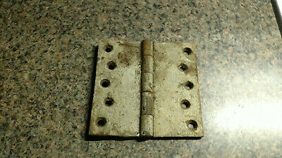 "ANTIQUE VINTAGE CAST IRON ORNATE VICTORIAN DOOR HINGE 4.5"" Metal Primitive"