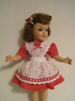 """Dress and pinafore - clothes for Mary Hoyer and other slender 14"""" dolls"""