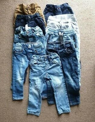 Boys Denim Jeans Jogger And Trouser Chino Bundle 9 in total Age 2-3 Next & Zara
