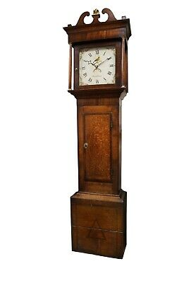 Long Case Grandfather Clock in an Oak Case