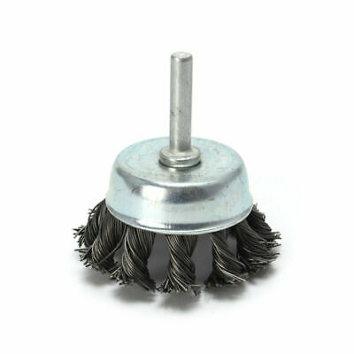 Metal Wire Wheel Cup Brush Crimped W/ Shank For Die Grinder Drill Tile Cleaner