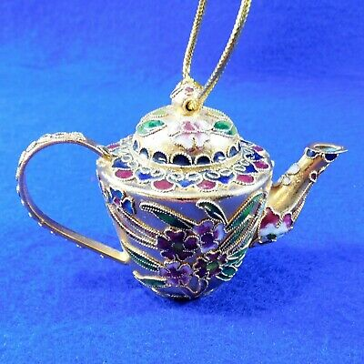 Cloisonne TEAPOT Ornament Gold Dillard's Collectibles