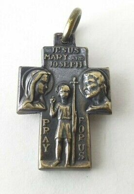 CROSS   Bronze in original style  Amulet  medallion pendant Ancient Rare