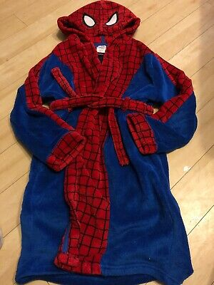 Boys Dressing Gown Disney Store Spiderman Age 9-10
