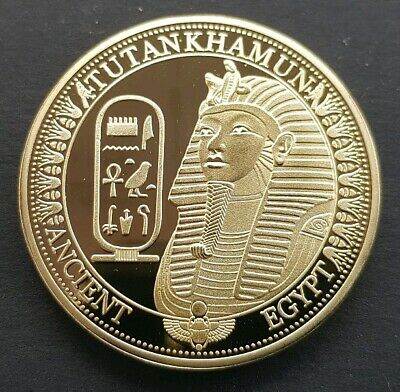 Ancient Egypt TUTANKHAMUN Commemorative Coin FREE COIN STAND AND BRAND NEW FITTE