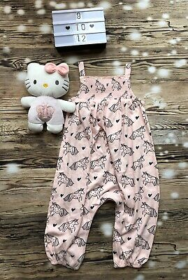 Next Baby girls Pink Unicorn jumpsuit Spring Summer Holiday Outfit BNWT