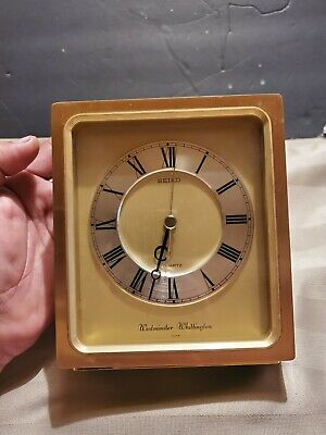 vintage seiko Westminster battery power Desk Mantel Clock  Working! QQF50G