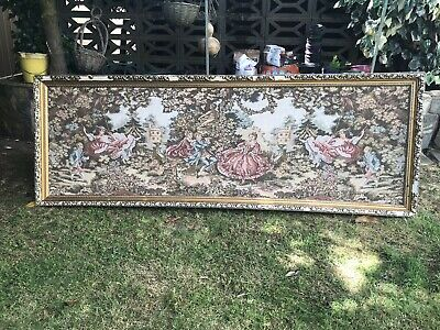 Delightful, Romantic Large French Vintage Wall Hanging / Tapestry