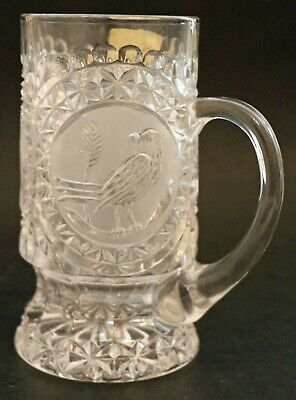 "NEW Bleikristall Cristal Au Plomb Lead Crystal Etched Water/Beer Mug 6 1/2"" Tall"