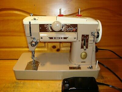 Vintage   Singer Sewing Machine Model  401A,  Zigzag Gear Driven ,Fully Serviced