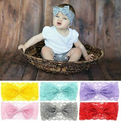 Accessories Turban Photo Props Lace Bow Knot Baby Headband Headwrap Hair Band