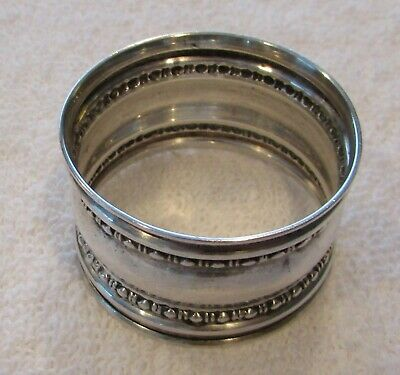Bead Concave Gorham sterling silver napkin ring