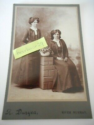 History! antique photo taken by R Duryea on River Murray. prob travelled by boat