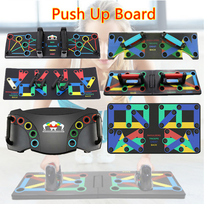 9/14/17 in1 Push-up Board Stand Handle Grip Bar Workout Muscle Training UK