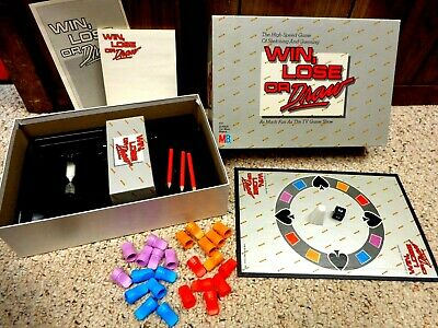 Vintage 1987 WIN, LOSE or DRAW Game by Milton Bradley #4710 *COMPLETE*