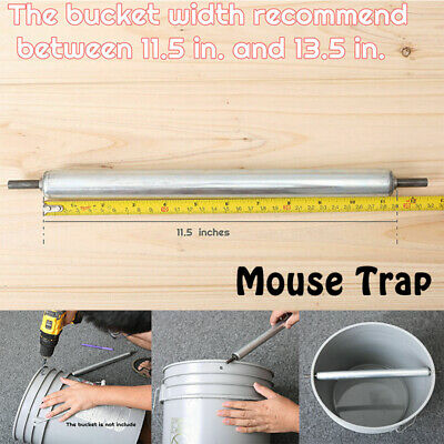 Mouse Trap Roller Roll Bucket Rolling Mice Rats Stick Rodent Spin Log Mousetrap