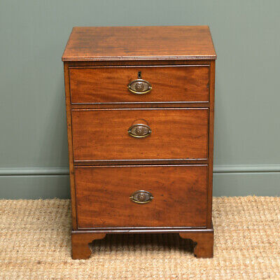 Small Georgian Mahogany Country House Antique Chest of Drawers
