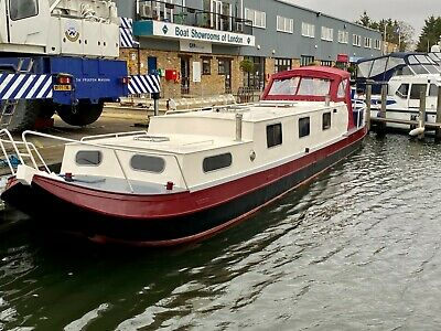 Beautiful 54ft Steel Dutch barge liveaboard Widebeam canalboat houseboat
