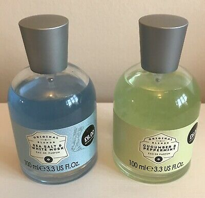 2 X 100ml Primark Perfumes - 1 X New, 1 X Nearly New Sea Sat Musk Peppermint