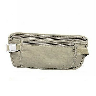 Portable Outdoor Travel Security Money Safety Waist Belt Wallet Bags Purse MA